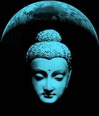 Buddha on moon
