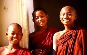 Smiling monks