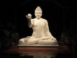 Buddha offering a lotus